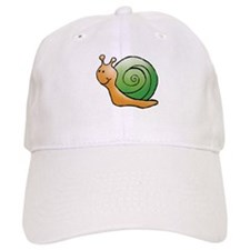 Orange and Green Snail Baseball Cap