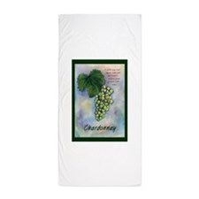 Chardonnay Wine Art Beach Towel