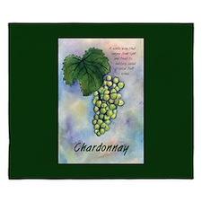Chardonnay Wine Art King Duvet