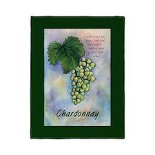 Chardonnay Wine Art Twin Duvet