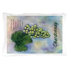 Chardonnay Wine Art Pillow Case