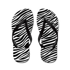 Zebra Stripes Pattern Flip Flops