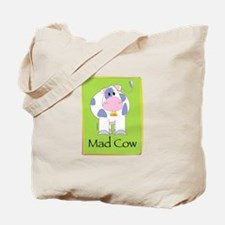 Mad Cow (green) Tote Bag