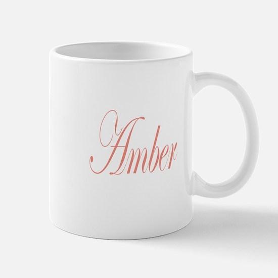 Cursive Amber Mug