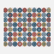 Multicolor Swirly Dot Patern Throw Blanket
