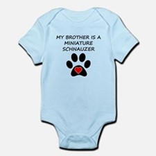 Miniature Schnauzer Brother Body Suit
