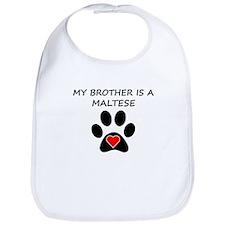 Maltese Brother Bib