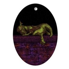 Let sleeping dragons lie Ornament (Oval)