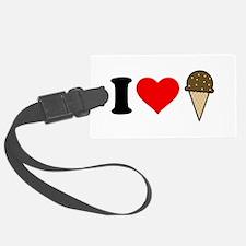 I Heart Ice Cream Cone Luggage Tag