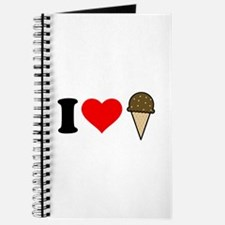 I Heart Ice Cream Cone Journal