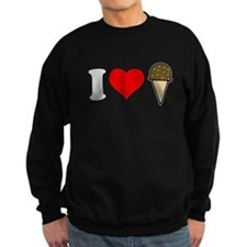 I Heart Ice Cream Cone Dark Sweatshirt