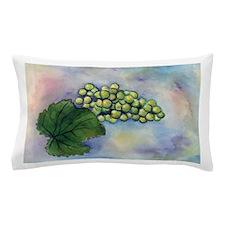 Green Grapes Wine Art Pillow Case