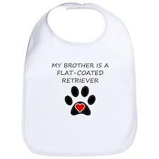 Flat-Coated Retriever Brother Bib