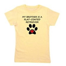 Flat-Coated Retriever Brother Girl's Tee