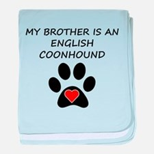 English Coonhound Brother baby blanket