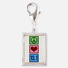 Peace Love 13.1 Silver Portrait Charm