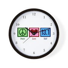 Peace Love 13.1 Wall Clock