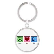 Peace Love 13.1 Round Keychain