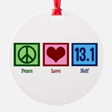 Peace Love 13.1 Ornament