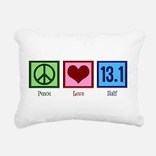 Peace Love 13.1 Rectangular Canvas Pillow