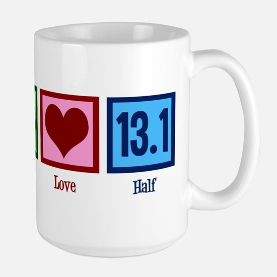 Peace Love 13.1 Large Mug