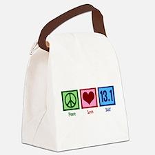 Peace Love 13.1 Canvas Lunch Bag