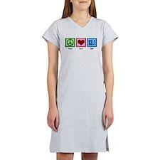 Peace Love 13.1 Women's Nightshirt