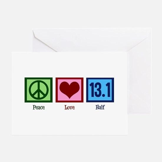 Peace Love 13.1 Greeting Card