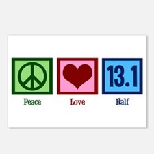 Peace Love 13.1 Postcards (Package of 8)