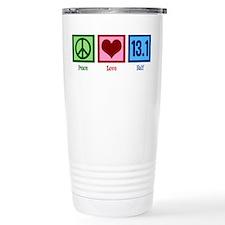 Peace Love 13.1 Travel Coffee Mug