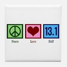 Peace Love 13.1 Tile Coaster