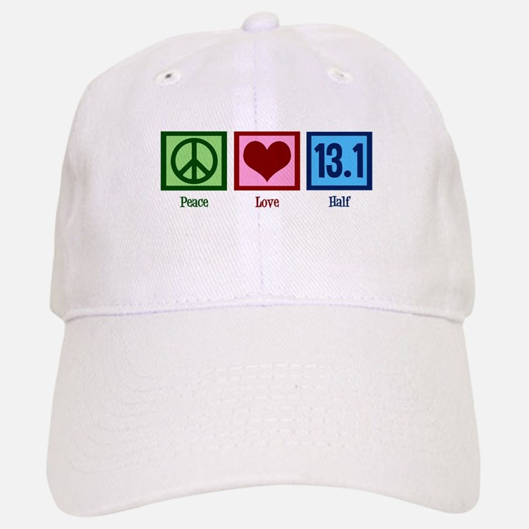 Peace Love 13.1 Baseball Baseball Cap