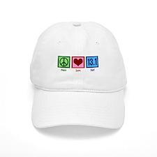 Peace Love 13.1 Baseball Cap