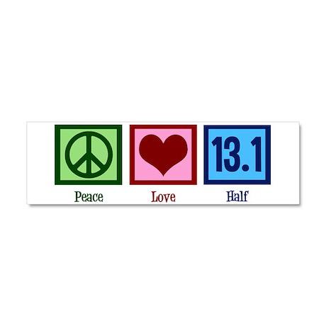 Peace Love 13.1 Car Magnet 10 x 3