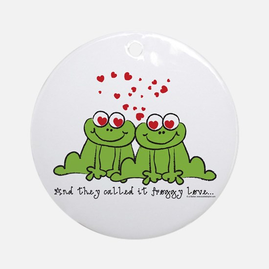 Froggy Love Ornament (Round)