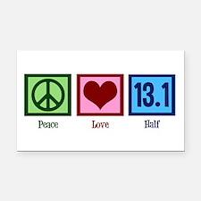 Peace Love 13.1 Rectangle Car Magnet