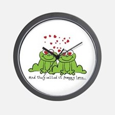 Froggy Love Wall Clock