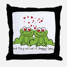 Froggy Love Throw Pillow