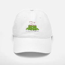 Froggy Love Baseball Baseball Cap