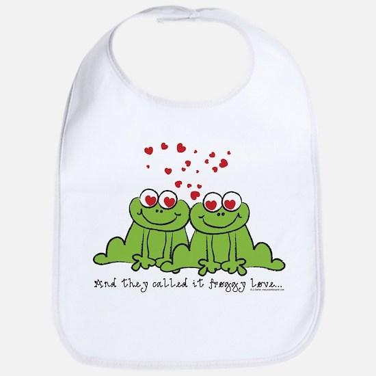 Froggy Love Bib