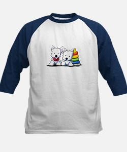 Westie Playful Puppies Kids Baseball Jersey