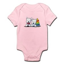 Westie Playful Puppies Infant Bodysuit