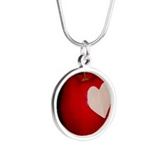 Reborn apple Silver Round Necklace