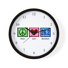 Peace Love 26.2 Wall Clock
