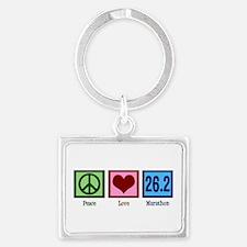 Peace Love 26.2 Landscape Keychain