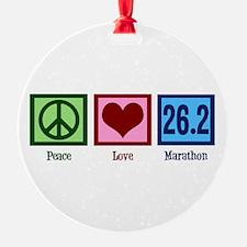 Peace Love 26.2 Ornament