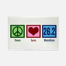 Peace Love 26.2 Rectangle Magnet