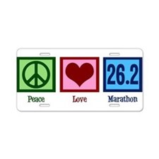 Peace Love 26.2 Aluminum License Plate