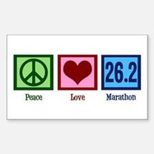 Peace Love 26.2 Sticker (Rectangle)