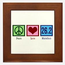 Peace Love 26.2 Framed Tile